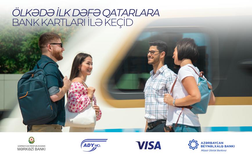 Elektrik qatarlarının sərnişinləri gediş haqqını təmassız bank kartları ilə ödəmək imkanı qazanacaqlar